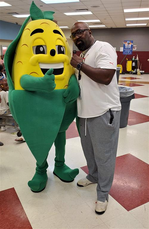 Wiley with Fall Harvest Festival Mascot