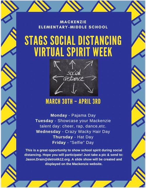STAGS Virtual Spirit Week