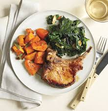 food porkchop and veges