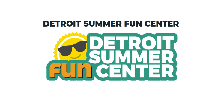 Shining Sun logo for Detroit Summer Fun Center