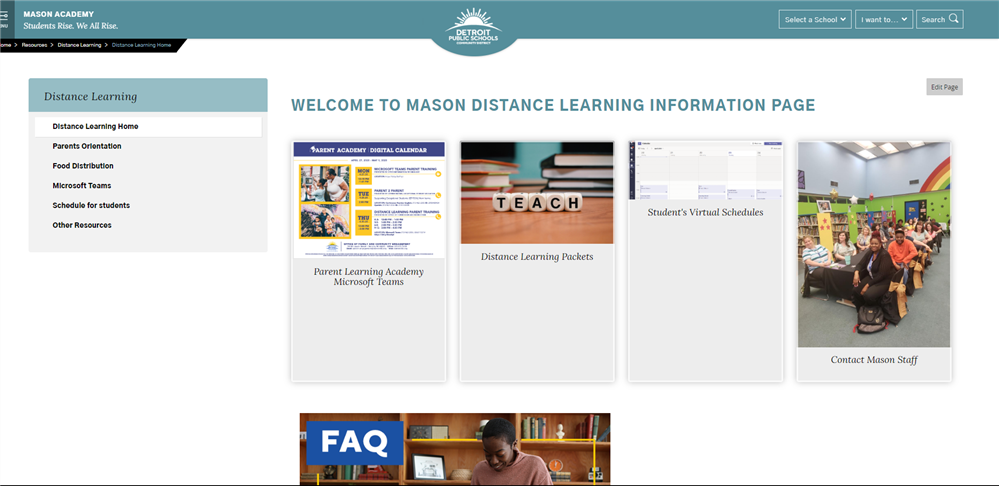 Online Learning Home page