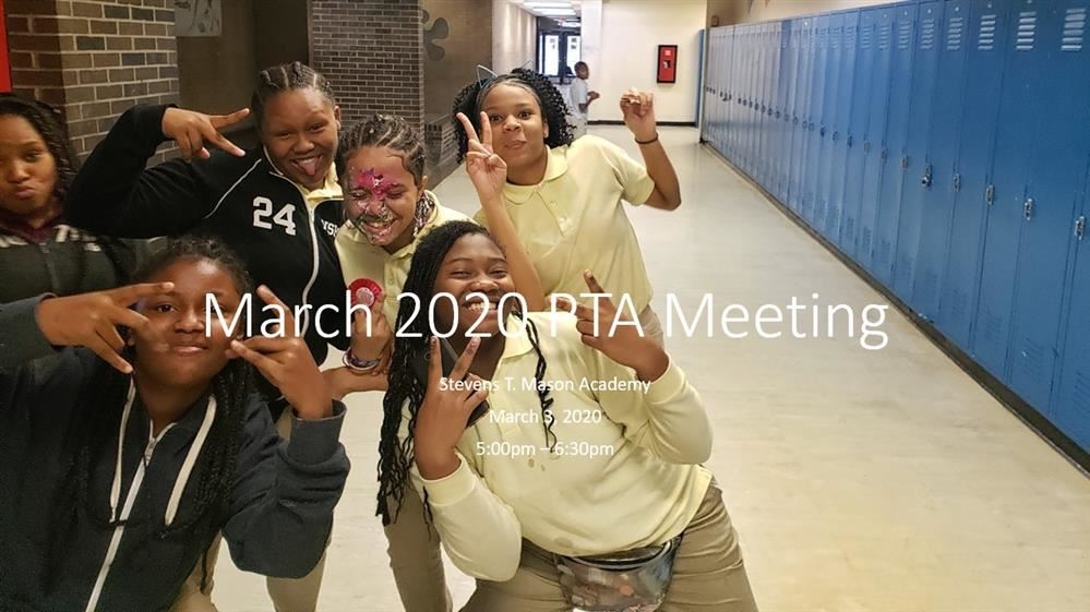 March PTA Meeting