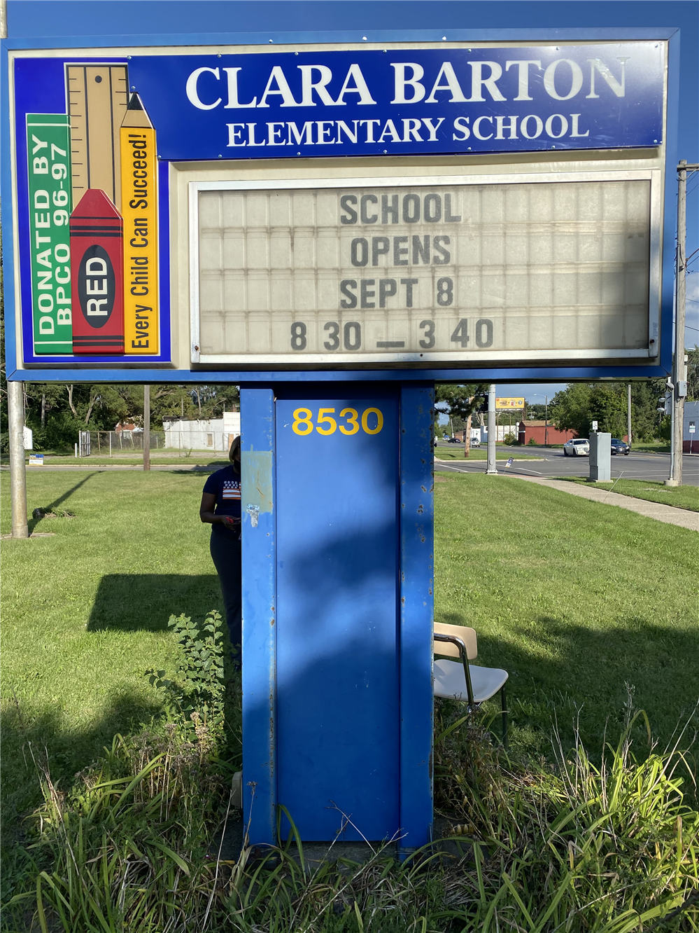 Barton Marquee First Day of School 2020