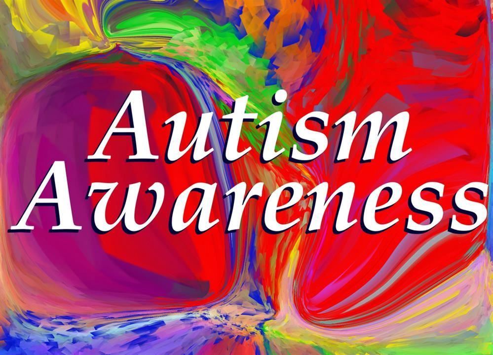 Autism Awareness with a colorful background