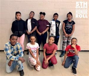 honor roll students 5th grade