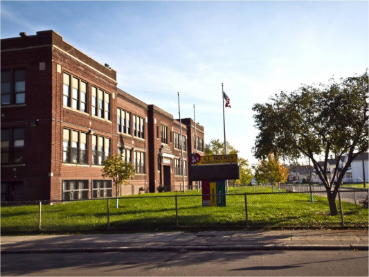 Exterior of A. L. Holmes Academy of Blended Learning