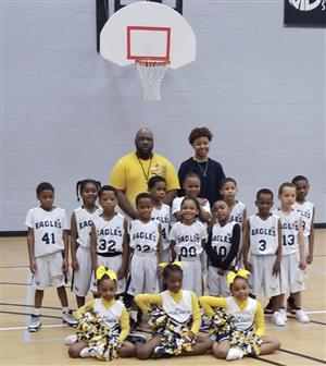 Elementary boys basketball team.