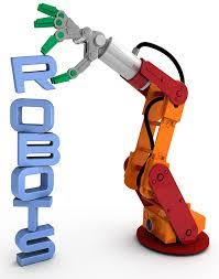 robot arm with the word robot
