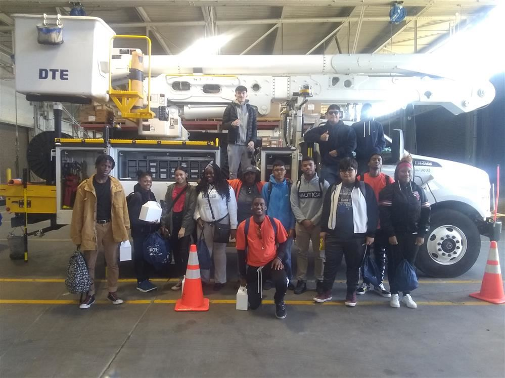 Students At DTE Trombly Service Center