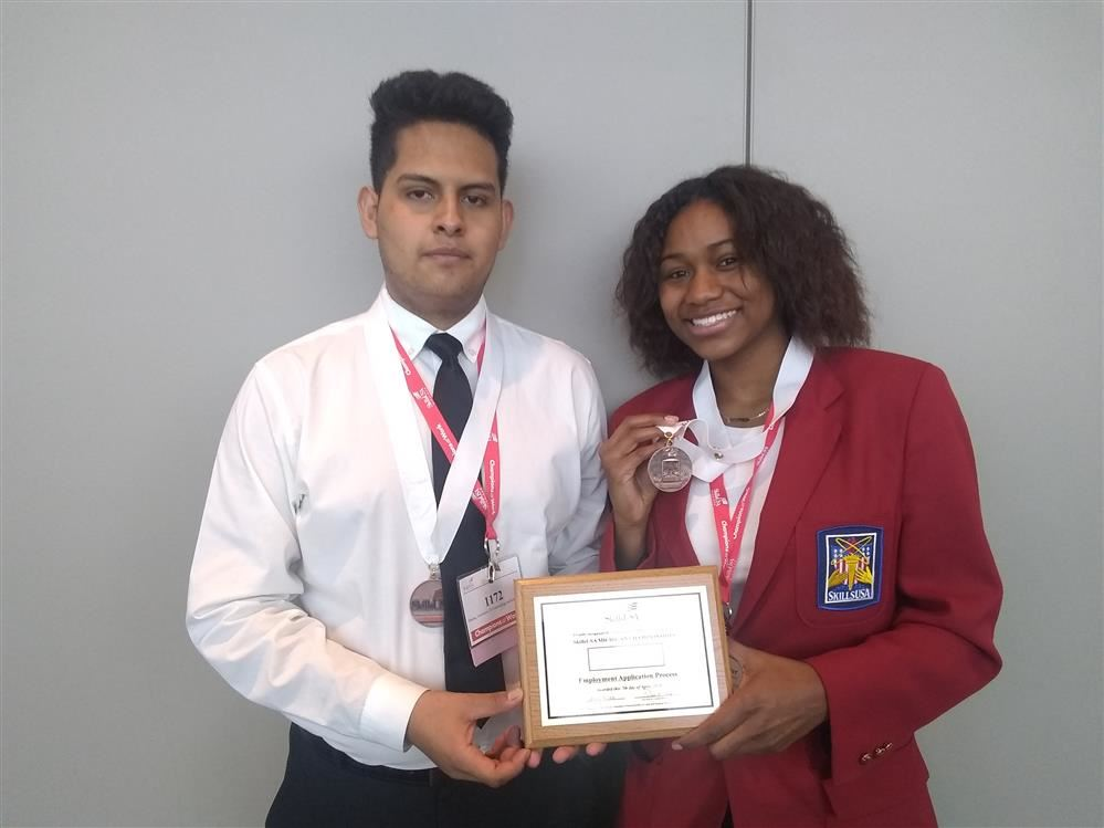 SkillsUSA bronze medalist (HVACR and Employment Application Process)