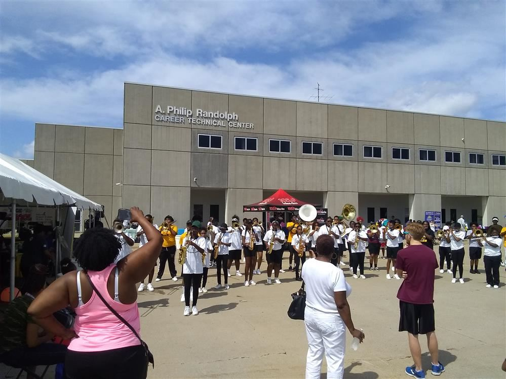 Marching Band at DPSCD Back-To-School Expo