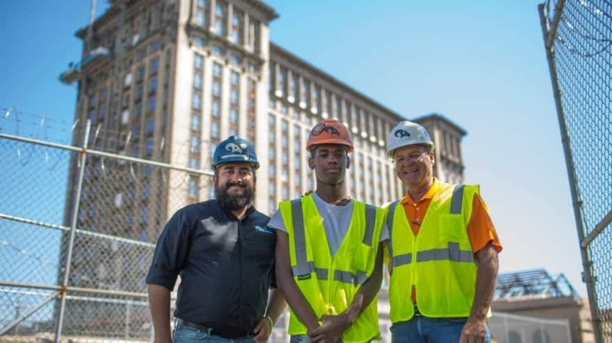 Randolph Student With RAM Construction @ Michigan Central Station
