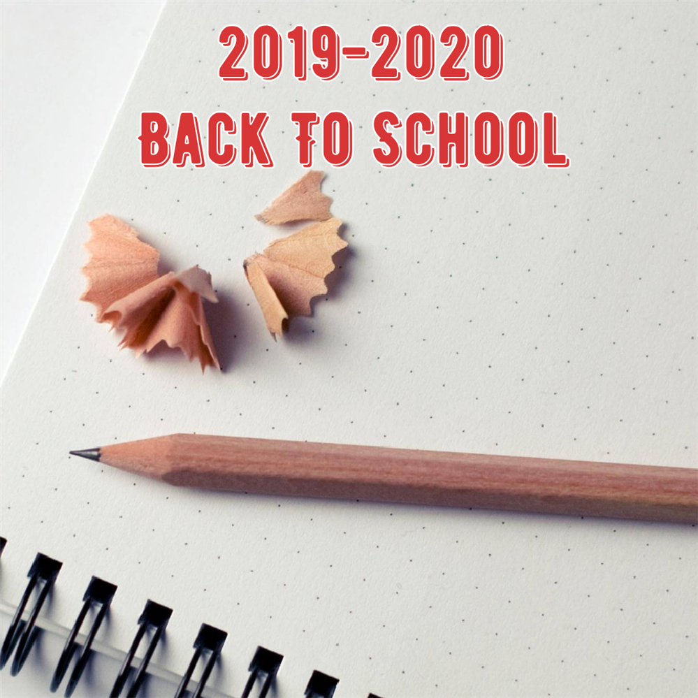 2029-2020 Back to school with pencil on paper