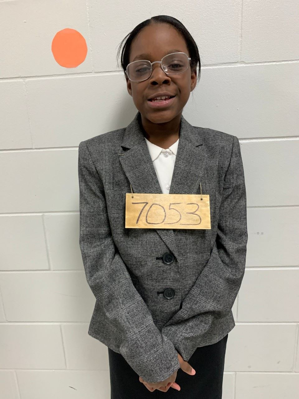 Student dressed as Rosa Parks