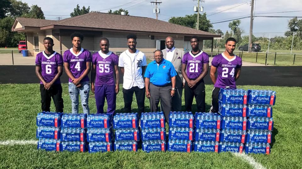 Water donation to Southeastern High School