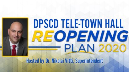 ATTEND THE REOPENING PLAN TELE TOWN HALL WITH DR. VITTI JULY 31