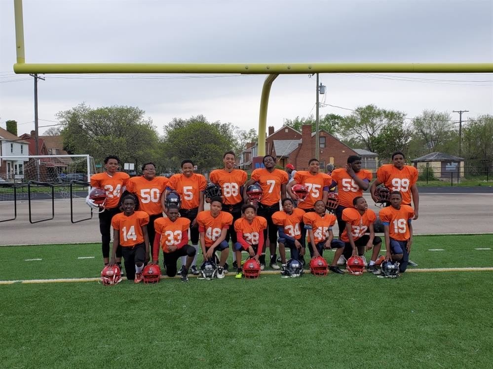 Middle School Football Team plays first game....