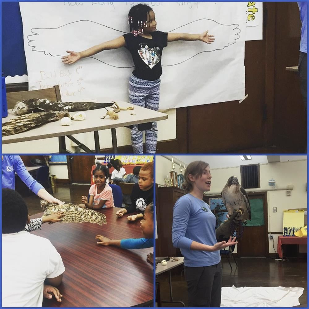 The Leslie Science and Nature Center visits Thurgood Marshall Elementary-Middle School