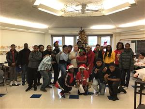Turning Point Academy Students and Staff Wishing Family and Friends  Happy Holidays