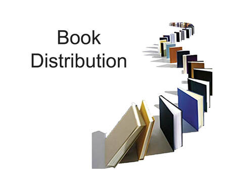 A row of books showing Book Distribution