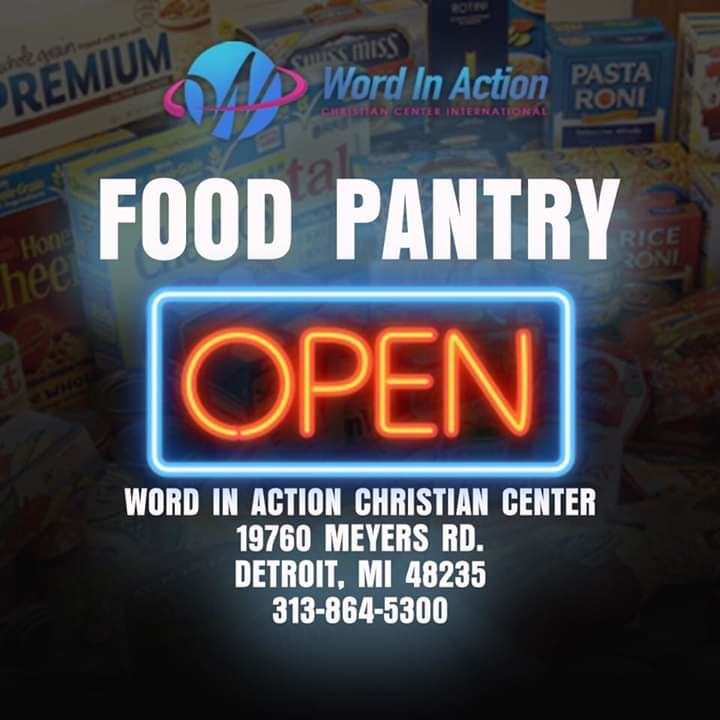 picture with food pantry advertisement