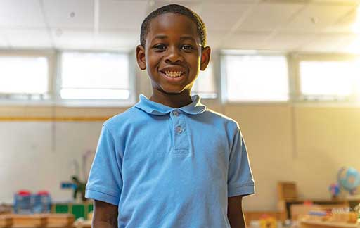 Picture of student smiling at school