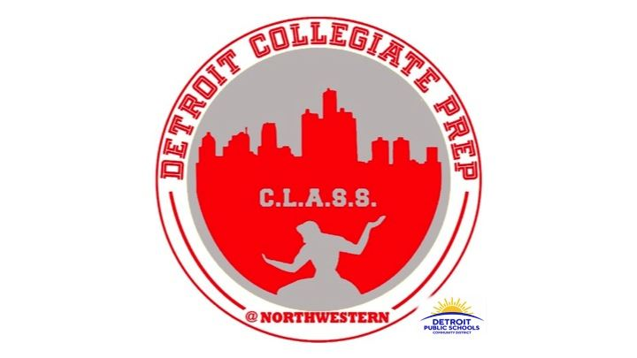 Image of the Detroit Collegiate Preparatory High School at Northwestern Logo.