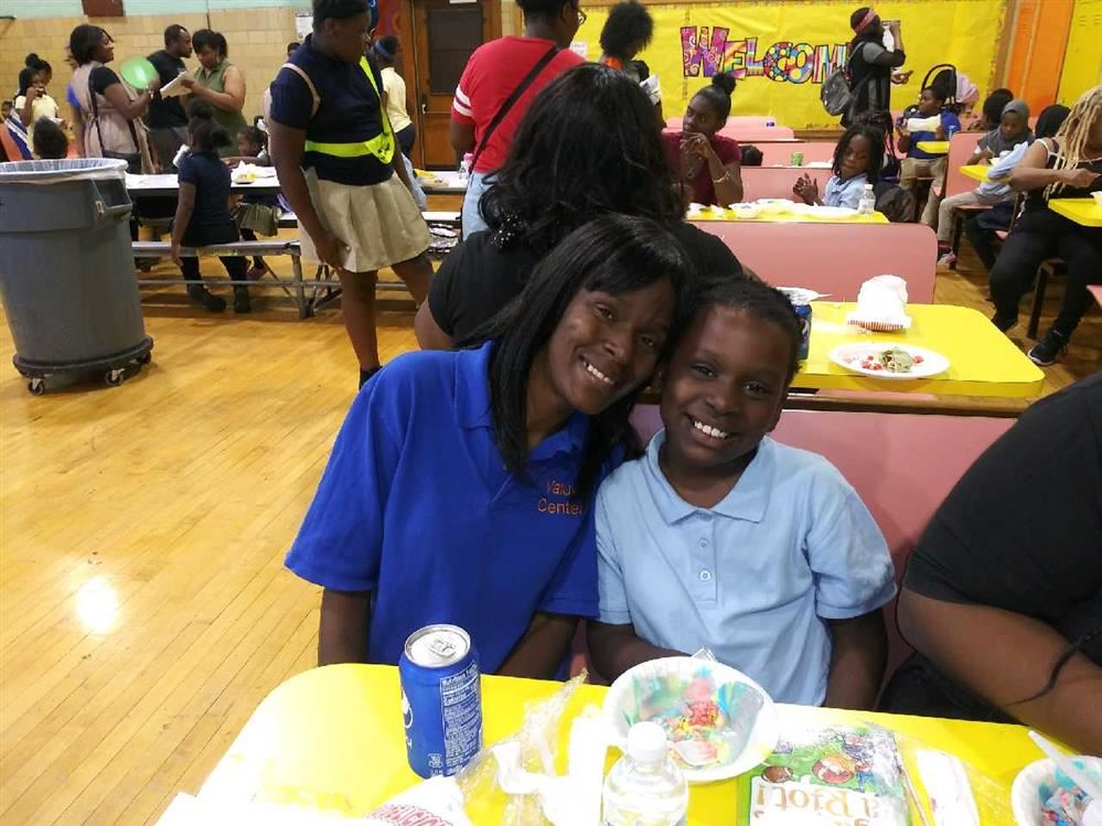 Parent and child at  Bagley's Open House 2019