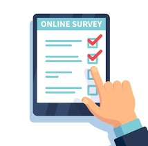 a digital image of an online survey