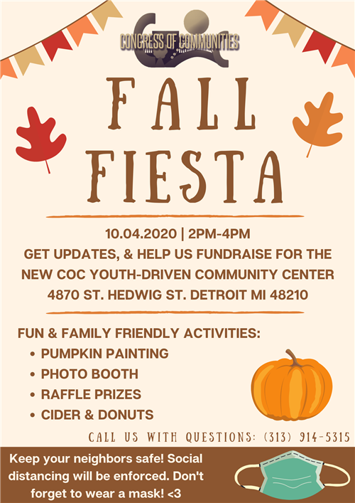 a flyer for fall fiesta