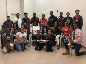 Band Students Holding their instruments