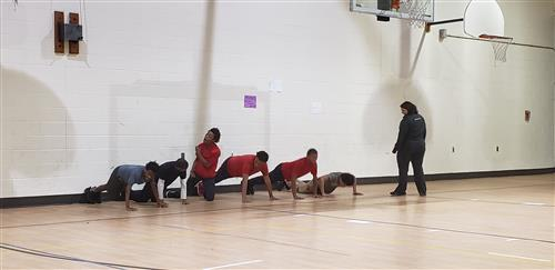 Boys doing push-ups