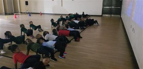 students stretching 2