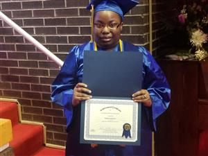 West Campus GED Honors Graduate Tangina-Lee Bowie