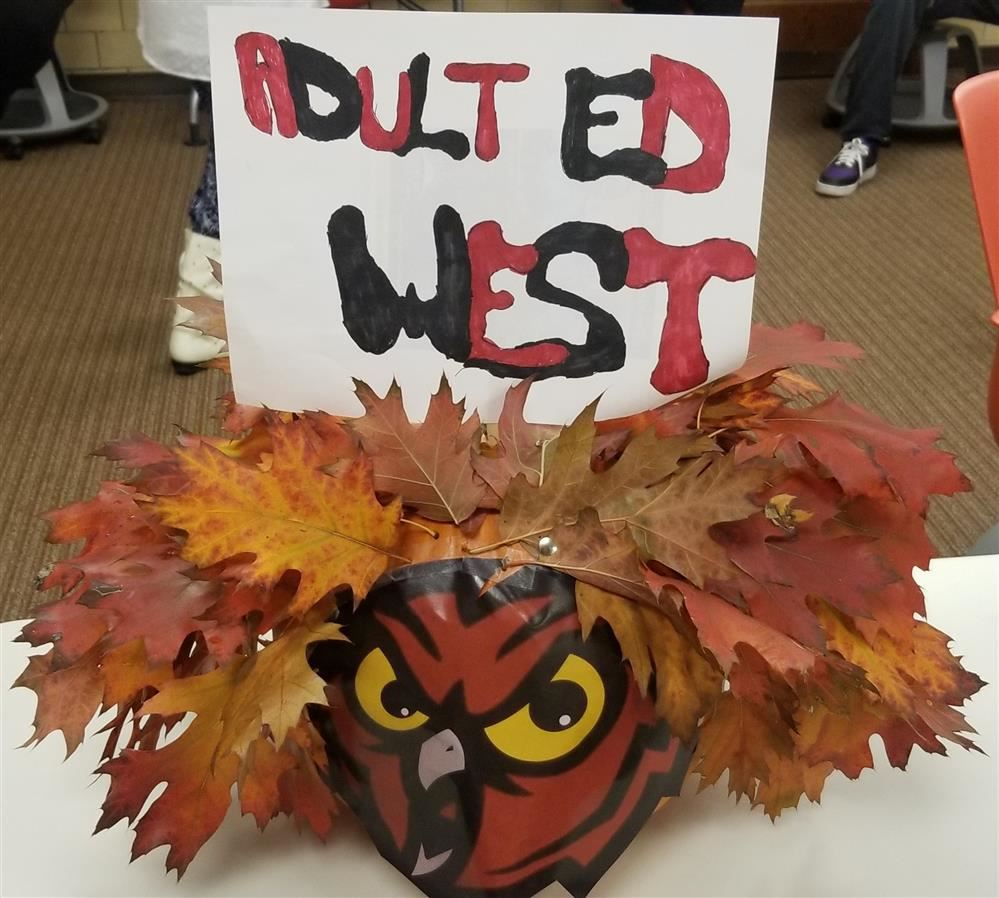 Adult Education West Halloween Pumpkin