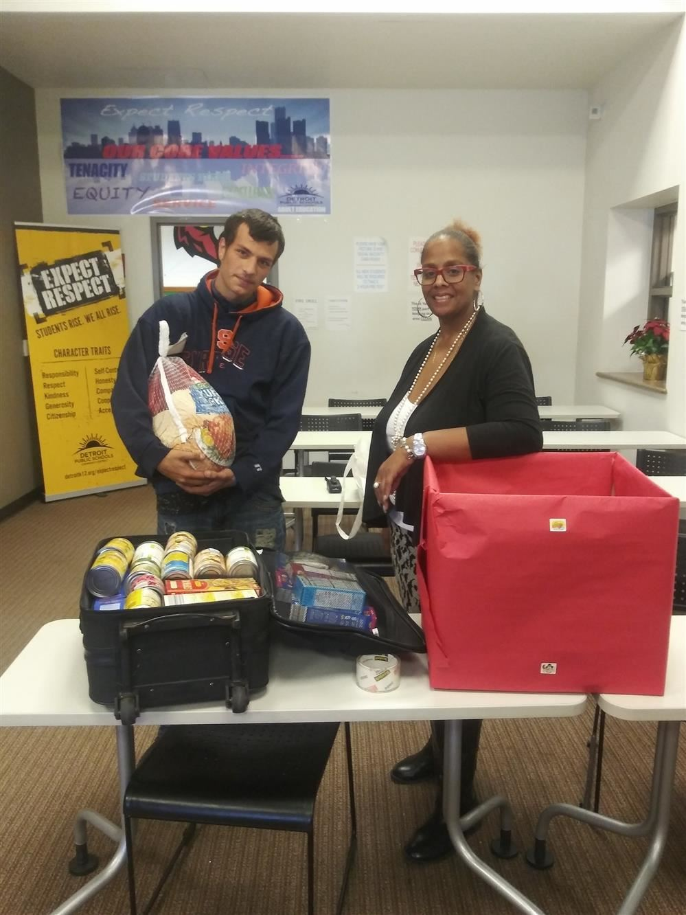 Food Drive at Adult Education West