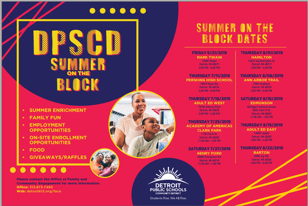 DPSCD Summer on the Block