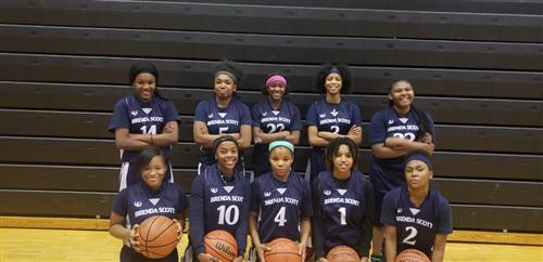 Brenda Scott Academy girl's basketball team