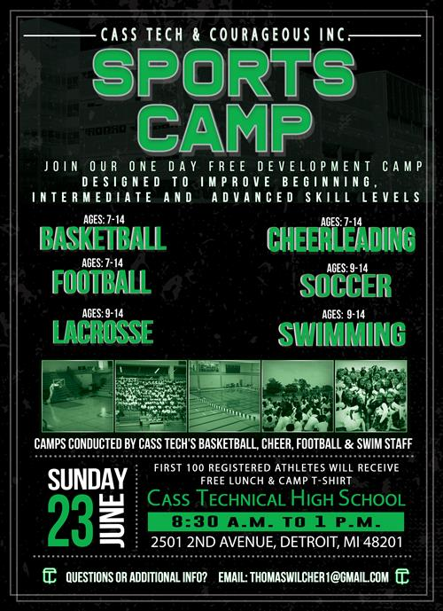 Sports Camp for the summer flyer