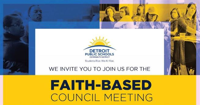 Invitation to Faith-Based Council Meeting Placemarker