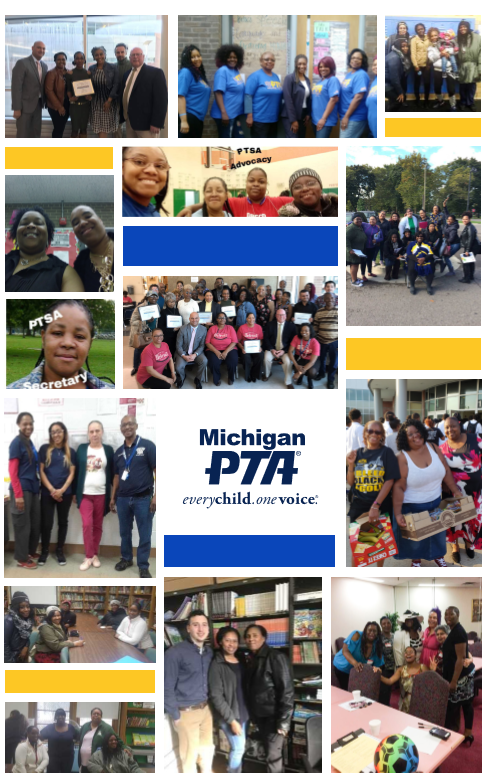 A collage of pictures from various PTA's within the school district.