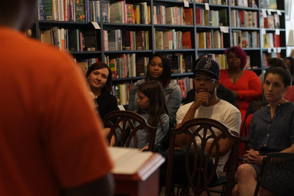 Audience at tenth grade book launch