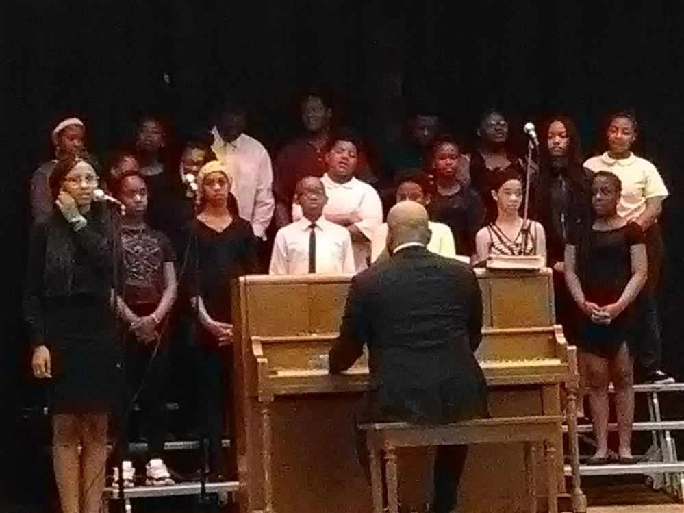 Student Choir singing