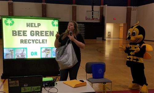 Bee Green and his partner explain recycling