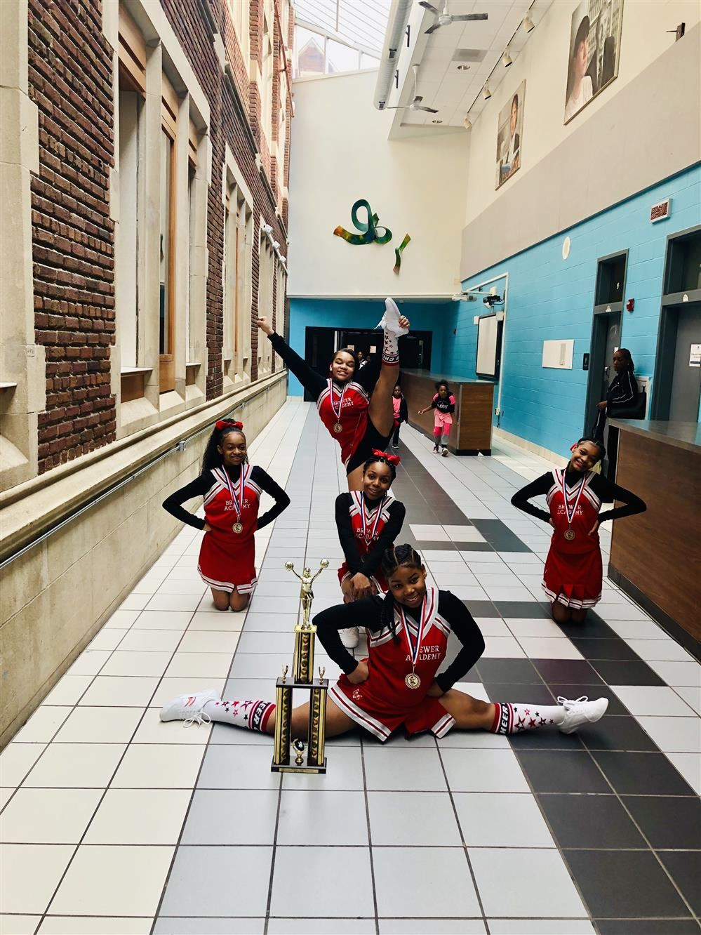 Brewer Academy's Cheerleaders Take 3rd Place at DPSCD Cheer Competition