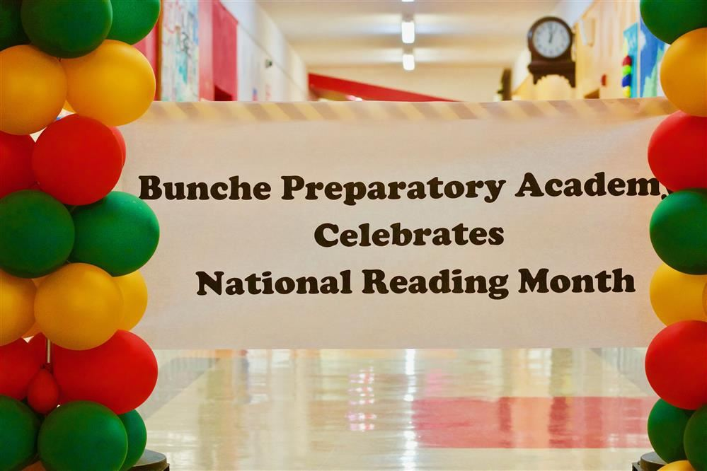 Celebration of Reading Month in Bold Writing