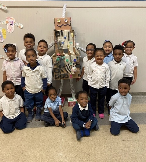 Image  of Ralphie the Robot with  PreschoolmClass