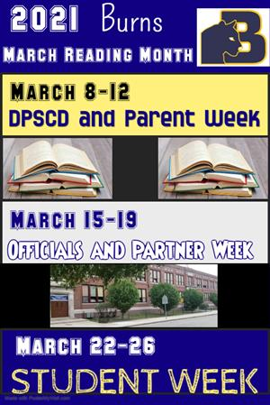 Flyer for reading month