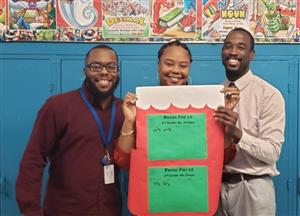Attendance Team- Mr. James, Principal Ms. Clayton and Attendance Agent Mr. Henry