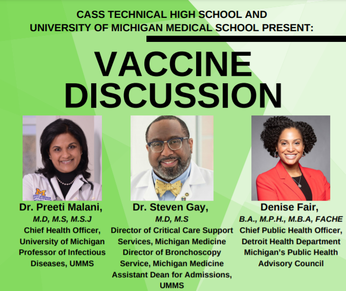 List Panelist for Vaccine Discussion